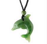 Genuine Jade Dolphin Pendant Necklace