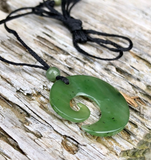 Simple Jade Koru Pendant Necklace