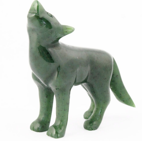 Genuine Jade Howling Coyote