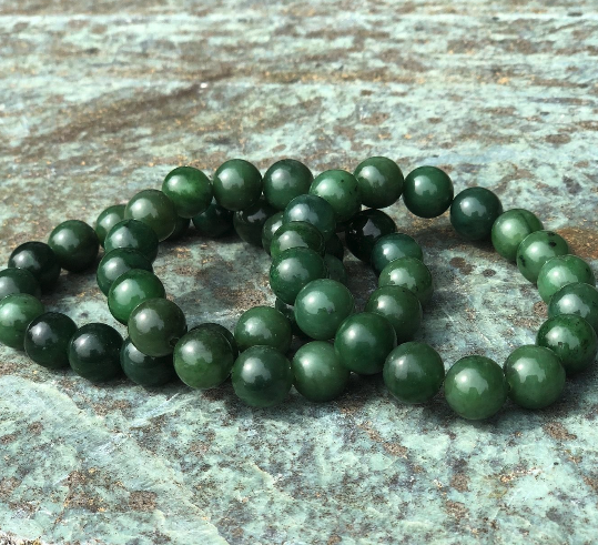 Canadian Nephrite Jade 12MM Bead Power Bracelet