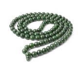 Grade A Canadian Nephrite Jade 108 Bead Mala ~  8mm and 10mm