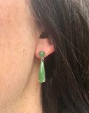 Canadian Nephrite Jade Stud Drop Earrings