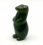 Canadian Nephrite Jade Standing Otter Figurine Statue