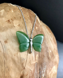 Genuine Jade Butterfly Pendant