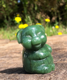 Genuine Jade Jolly Pig Carved Statue