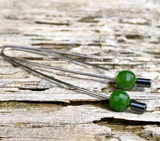 Jade Faceted Bead Drop Earrings