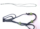 Adjustable Replacement Wax Cord with 3 Nephrite Jade Beads