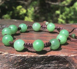 Adjustable Beaded Nephrite Jade Bracelet Canadian Jade