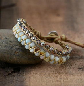 Boho Amazonite Crystal Braided Bracelet Jewelry