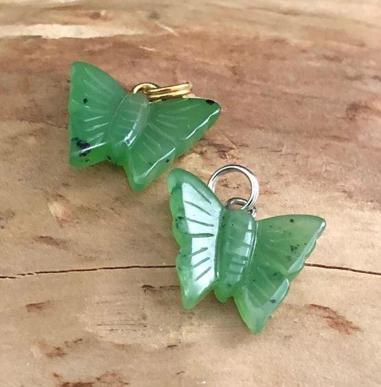 Butterfly Nephrite Jade Charm Canadian Jade