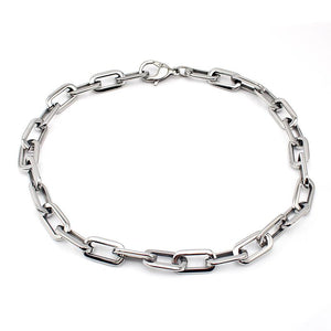 Chunky Chain Link Stainless Steel Necklace Jewelry