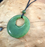 Circle of Life Pendant Nephrite Jade with Adjustable Cord Canadian Jade