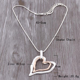 Double Layer Heart Necklace Women Jewelry