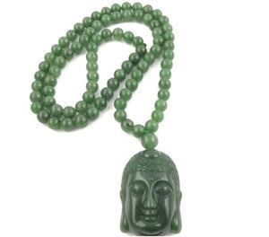 Genuine Jade Guanyin Head Pendant Beaded Necklace Canadian Jade