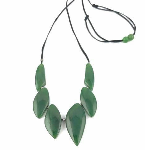 Genuine Nephrite Jade Bib Necklace Canadian Jade