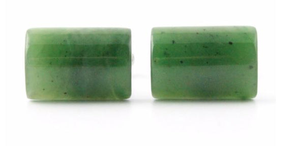 Genuine Rectangle Nephrite Jade Cufflinks Canadian Jade