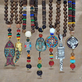 Handmade Nepal Buddhist Necklace (Mala) Women Jewelry