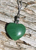 Heart Nephrite Jade Charm with Optional Necklace Canadian Jade