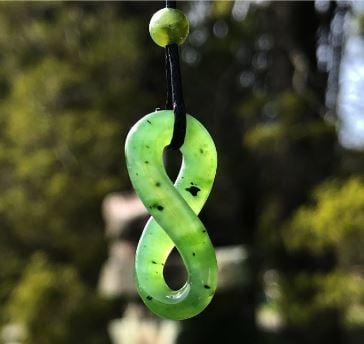 Infinity Twist Nephrite Jade with Adjustable Necklace Canadian Jade