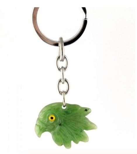 Keychain - Eagle Head Canadian Jade