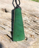 Large Toki Pendant Nephrite Jade High Polish with Adjustable Braided Cord Canadian Jade
