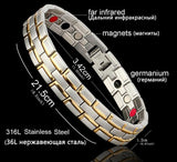 Men's Stainless Steel Healing Magnetic Bracelet 3 Health Care Elements Jewelry