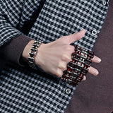 Men's Stainless Steel Motorcycle Chain Link Bracelet Jewelry