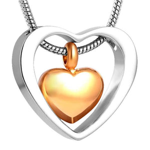 Mini Cremation Heart in My Heart Pendant & Necklace Women Jewelry