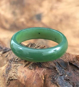 Narrow Band Ring Nephrite Jade Women Canadian Jade
