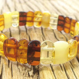 Natural Multi-colored Baltic Amber Bracelet Women Jewelry