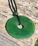 Pi Donut Pendant Nephrite Jade Necklace Canadian Jade 25mm