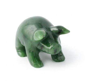 Pig Nephrite Jade- Year of the Pig! Canadian Jade 1""