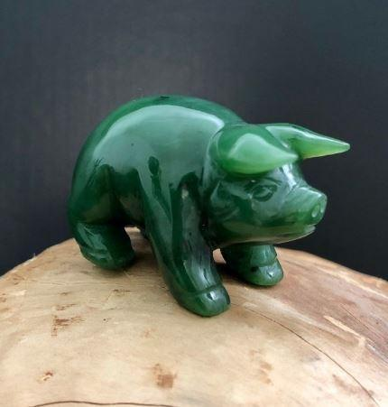 Pig Nephrite Jade- Year of the Pig! Canadian Jade
