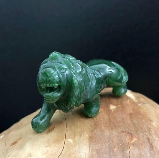Pouncing Lion Nephrite Jade Canadian Jade