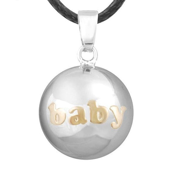 Pregnant Harmony Chime Angel Bola Pendant and Necklace Women Jewelry Silver/Gold Baby