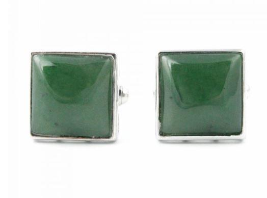 Square Jade Cufflinks Canadian Jade