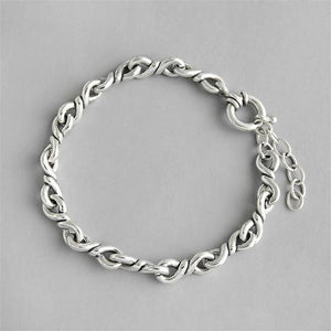 Sterling Silver Twist Bracelet Jewelry Default Title