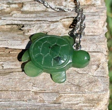 Turtle Nephrite Jade Pendant with Optional Sterling Necklace Canadian Jade