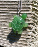 Turtle Nephrite Jade Pendant with Optional Sterling Necklace Canadian Jade Pendant Only