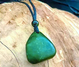 Unisex Nephrite Jade Nugget Pendant with Adjustable Cord Necklace Canadian Jade