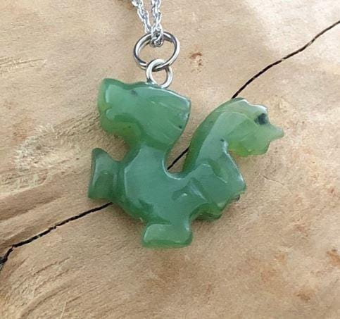 Walking Dragon Nephrite Jade Charm Canadian Jade