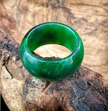 Wide Band Ring Nephrite Jade Women Canadian Jade