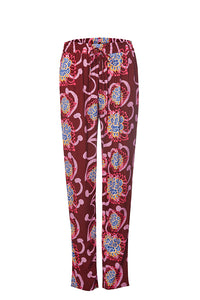 Maroon / Pink Alien Flowers Pants