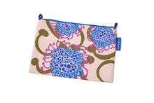 Load image into Gallery viewer, Apricot/Blue Alien Flowers Nylon Makeup Bag