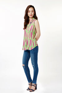 Green Chard Sleeveless Blouse