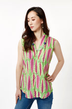 Load image into Gallery viewer, Green Chard Sleeveless Blouse