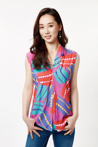 Pink Anemone Sleeveless Blouse