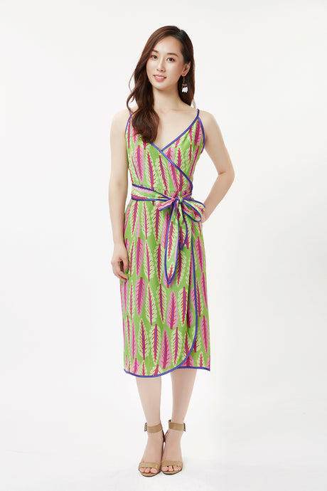 Green Chard Spaghetti Strap Dress