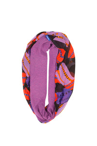 Black Anemone / Purple Infinity Scarf