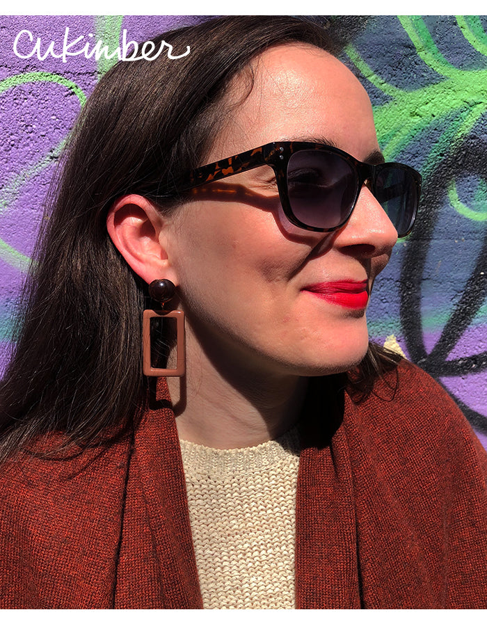 Mary Earrings in Brown / Taupe